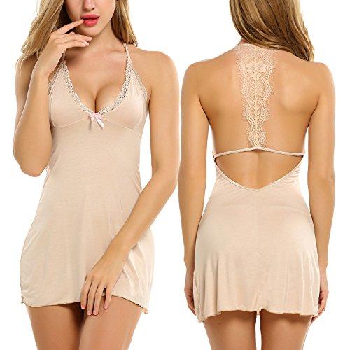 Avidlove-Sleepwear-Womens-Chemise-Sexy-Nightie-Full-Slip-Lace-Babydoll-Dress