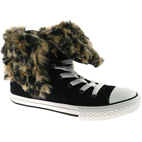 Converse Footwear CT Knee Hi XHI Junior Black Leopard Kids 11