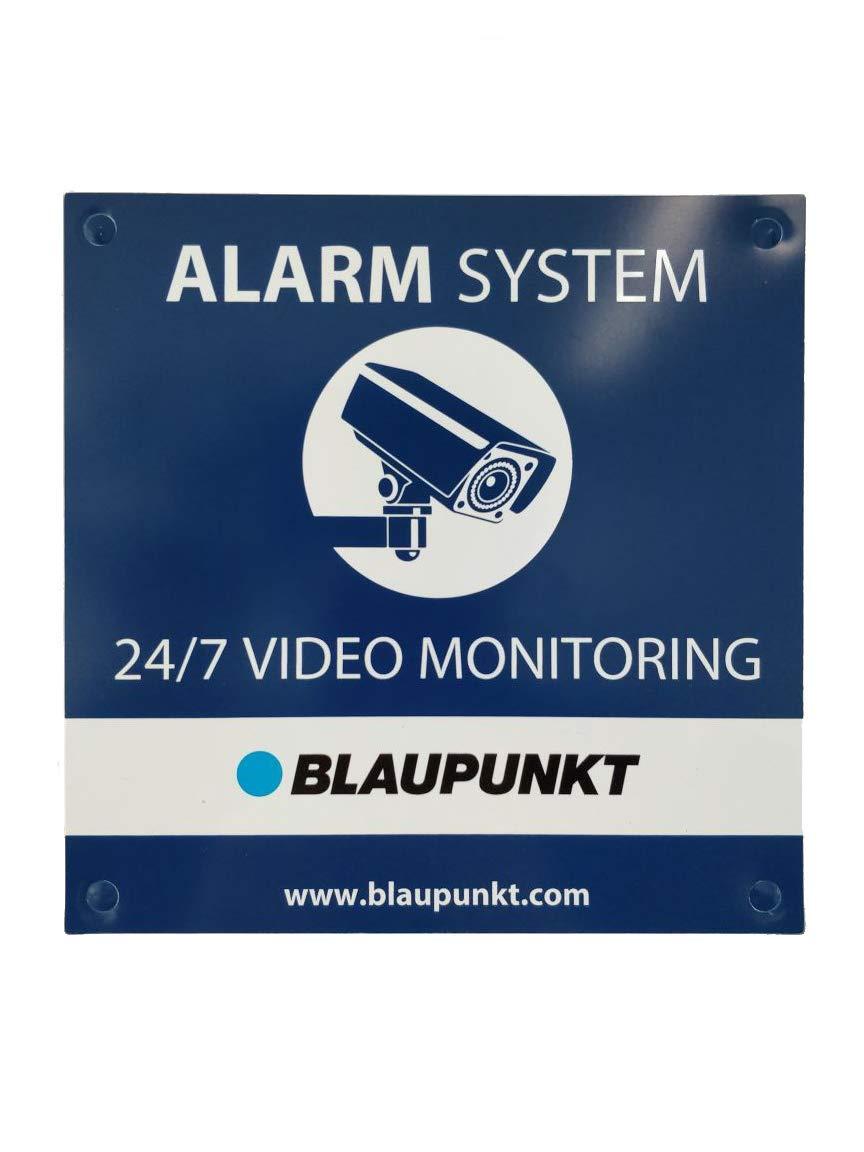 Cartel disuasorio Blaupunkt - Advierte de la presencia de la Alarma Sin Cuotas mas segura del mercado
