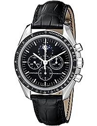 Omega Men's 3876.50.31 Speedmaster Moon Phase Black Dial Watch