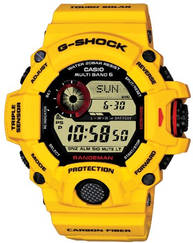 Casio G-SHOCK - RANGEMAN - 30th Anniversary Lightning Yellow Series LIMITED EDITION - Solar Multiband 6 - Tactical Men's Watch GW-9430EJ-9JR (Japan Import)