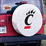 Holland Bar Stool University of Cincinnati Tire Cover A, White, Without Security Grommets