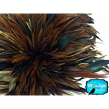 Rooster Feathers 4 Inch Strip Strung Rooster Neck Hackle Feathers