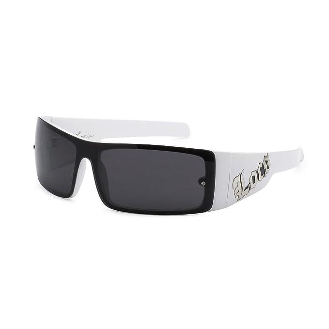 Amazon.com: Locs Hardcore, marco blanco anteojos de sol ...