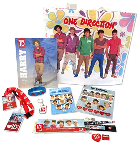 One Direction 8-Piece Accessory Flower Tote Bag Gift Set