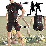 DGXINJUN Men Padded Compression Shirt Sports Short