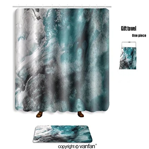 vanfan bath sets with Polyester rugs and shower curtain abstract background watercolor background abs shower curtains sets bathroom 69 x 75 inches&31.5 x 19.7 inches(Free 1 towel and 12 - Gosling Ryan Abs