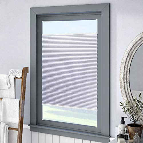 Keego Custom 100% Blackout Cellular Shades, Top Down Bottom up Window Blinds, White, 34″ W x 60″ H, Thermal Honeycomb Blinds Top Down Bottom up for Windows French Door Skylight