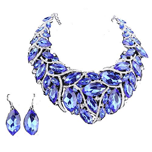 African Beads Jewelry Sets Women Bridal Crystal