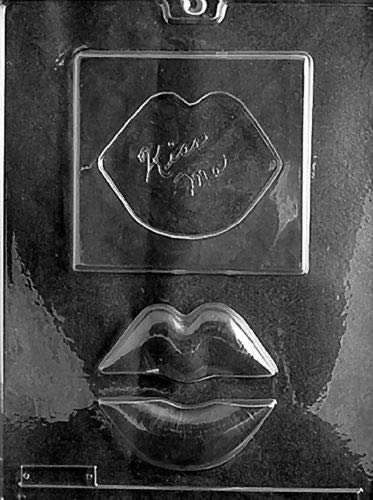 KISS ME Lips Plaque V56 Mold Chocolate Candy soap Making Valentine,- Limits