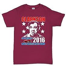 Clarkson For President Make America Fast Again T Shirt (Tee) M Maroon