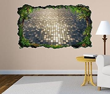 3D Wandtattoo 3D Effekt Licht Kacheln Quadrate Schachbrett ...