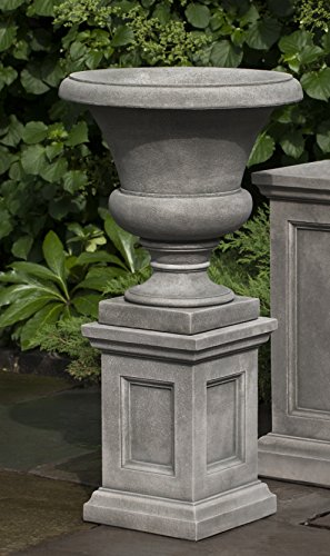 Campania International Mt. Airy Urn with Low Lenox Ped, Verde Finish
