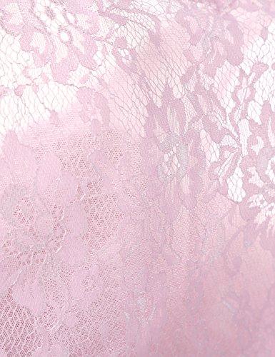 Sarahbridal Damen A-Linie Kleid Gr. 42, rose