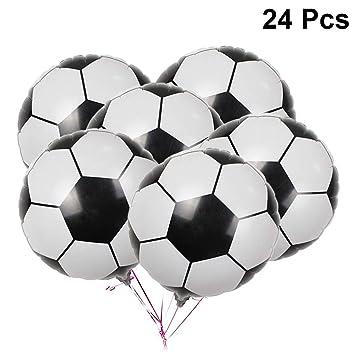 Amosfun 24Pcs Globos de fútbol 4D Balón de Aluminio de fútbol ...