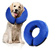 Protective Inflatable Pet Collar, PetNLife Soft Adjustable & Comfortable Pet E-Collar for Dogs and Cats, Great for Recovery from Surgery or Wounds, Medium Size