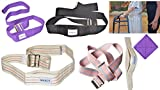 "Flash Sale! MABUA Physical Therapy Gait Belt with Metal Buckle -1 Loop Handle Beige 60"". Also Available 1 Loop Handle: Beige 72"", Black 60"", 72"", Pink 60"""