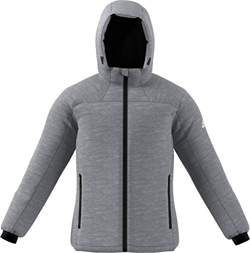 adidas Sport Performance Men's Nuvic Hybrid Jacket, Dark Grey Heather, White, L