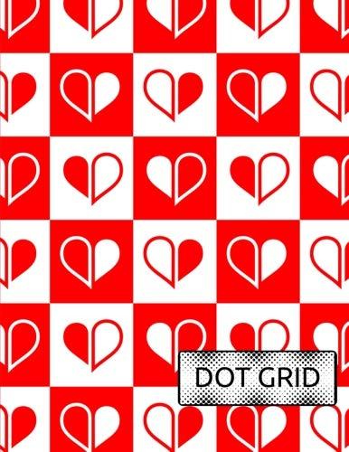 Dot Grid: Checkerboard Hearts, 8.5x11 Pretty Dot Grid, Paper with Dot Pattern, Dot Matrix  Journal, School Bullet Notebook, Large Pretty Dot Grid, ... School, Best Dot Journal (Dot Grid Notebooks)