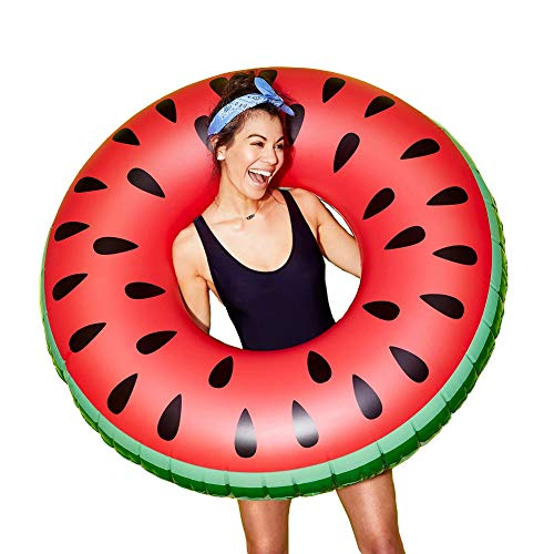 Dahen Inflatable Swim Rings,Watermelon Swim Ring - Fun Adults or Kids Swim Party Toy