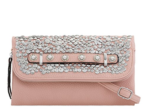 2305 Out Women's Evening Handbags Prom LeahWard Purse Night Clutch Bag Pink Wedding vw77nxUFq