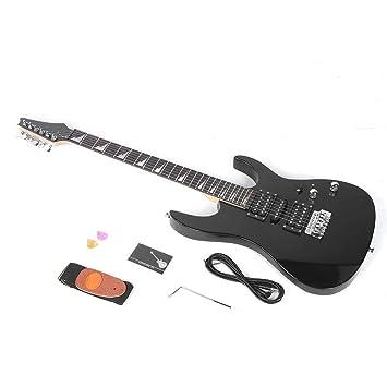Bnineteenteam Kit de Guitarra eléctrica, Tilo Negro Guitarra ...