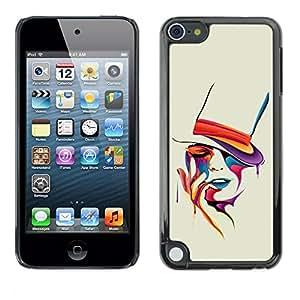 TECHCASE**Cubierta de la caja de protección la piel dura para el ** Apple iPod Touch 5 ** Colorful Art Portrait