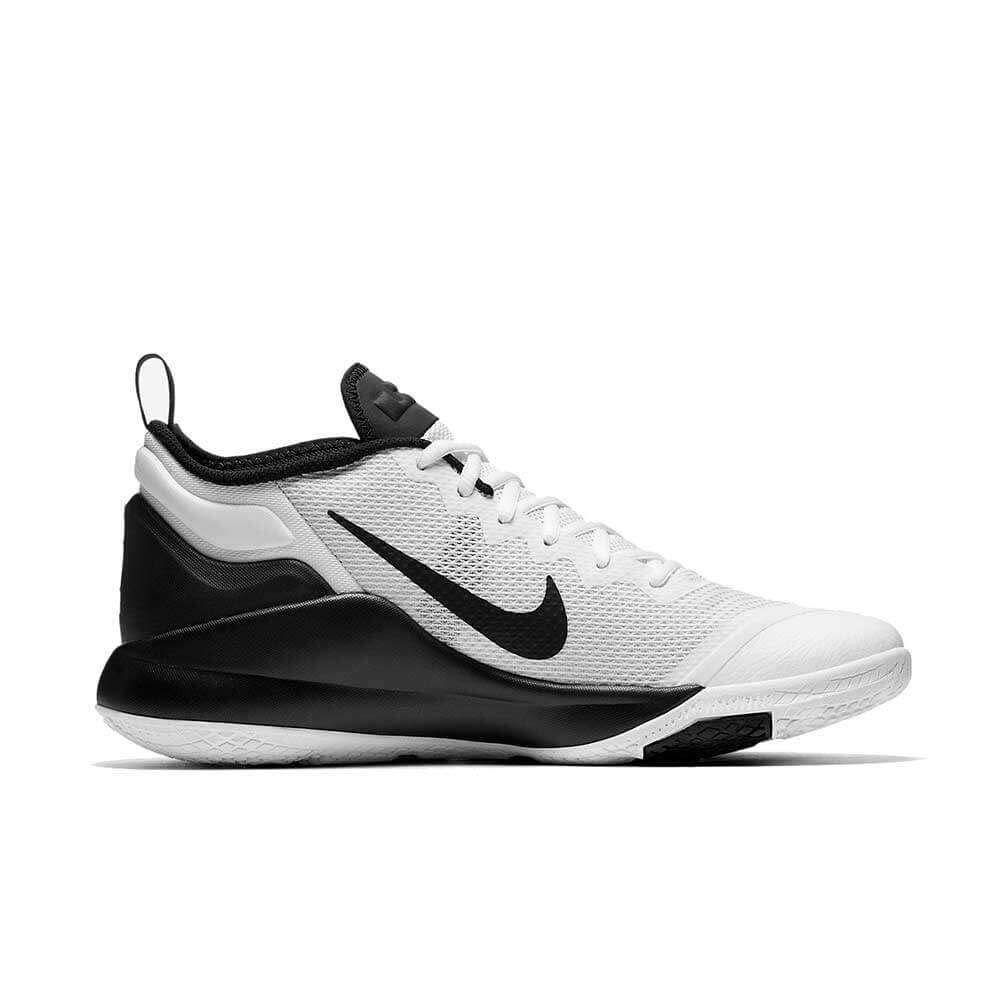 Nike Unisex-Erwachsene Hausschuhe Lebron Witness Ii Weiß schwarz Fitnessschuhe Weiß