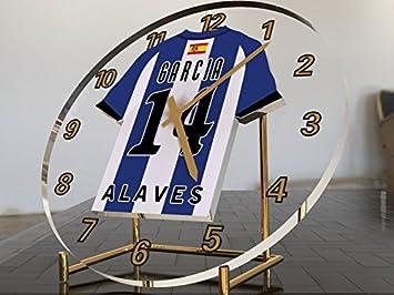 Reloj de sobremesa, diseño de camiseta de fútbol de La Liga española, color Any