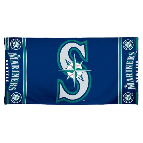 fan products of MLB Seattle Mariners 30 by 60 Fiber Reactive Beach Towel
