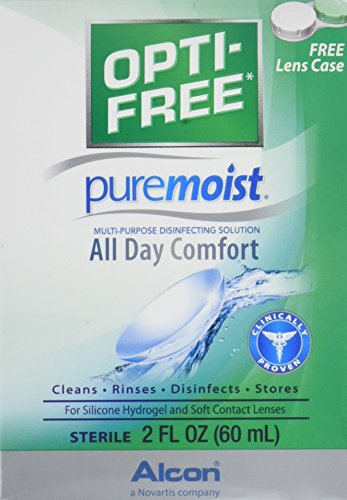 - OPTI-FREE Pure Moist Multi-Purpose Disinfecting Solution, All Day Comfort 2 oz (Pack of 4)