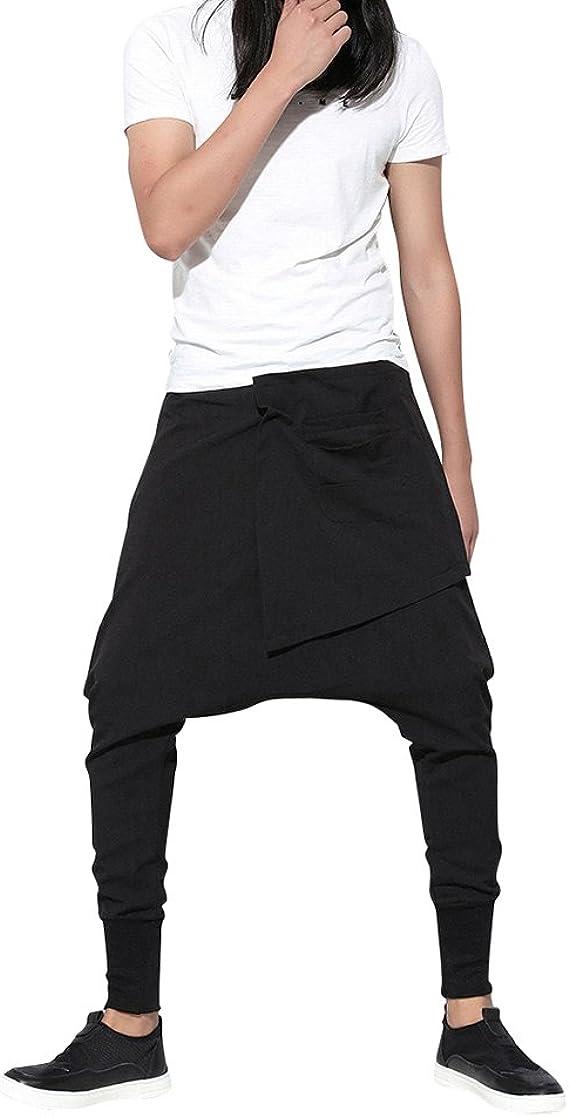 Baymate Mujeres Harem Pantalones Deportivo Elástico Cintura Hiphop ...
