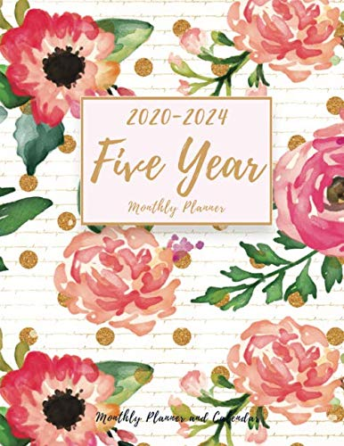 Five Year Planner: Monthly Planner and Calendar | 5 Year Planner and Monthly Calendar with Holidays | Agenda Schedule Organiser and 60 Months Calendar ... calendar) (2020-2024 Monthly Planner)