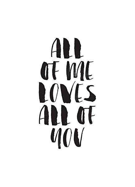 Juniqe Canvas Prints 20x30cm Black White Love Quotes Design