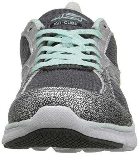 Zapatillas Avia Para Mujer Avi-cube Color Gris Acero / Plata Cromo / Verde Mar