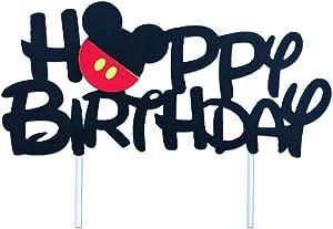 GmakCeder Mickey Birthday Cake Topper for Mickey Birthday Party Cake Decoration