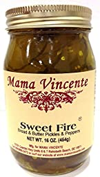 Mama Vincente Sweet Fire Bread & Butter Pickles & Peppers - (2 Pack of 12 Oz. Bottles)