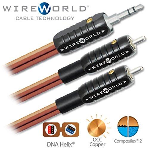 WIREWORLD Nano-Eclipse Audio Mini Jack to 2 RCA Cable - 1.0M by Wireworld