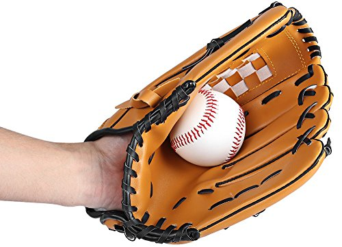Baseball Glove Youth/Sports Baseball Softball Glove,Players Series Glove with Baseball,Baseball Glove Left Hand-Right Hand Throw,10.5