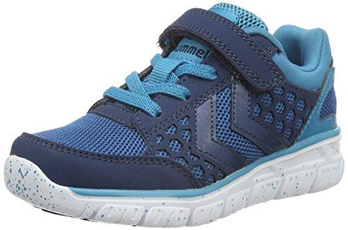 Hummel Crosslite Sneaker Jr, Zapatillas Deportivas para Interior Unisex Niños Azul (Poseidon)
