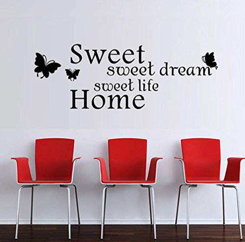 BIBITIME English Inspirational Quotes Wall Decals Stickers for ...