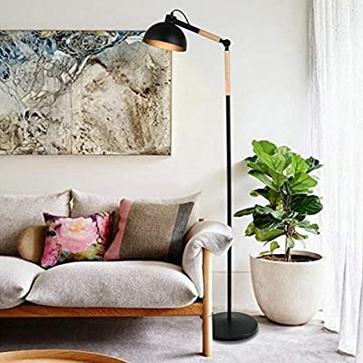 Modern Design Adjustable Floor Lamp Standing Lamp with On Off Switch for Bedroom Living Room Office - ❤ADJUSTABLE HEIGHT AND LIGHTING ANGLE: Flexible adjustable architect swing arm floor standing lamp which makes it easy to find the perfect lighting angle, perfectly for reading, It will protect your eyesight,You can adjust the floor lamp height and Lighting angle as needed. ❤ELEGANT LAMP FOR HOME & OFFICE: The LED accent lamps create a beautiful and inviting look to impress your guests. The warm cozy lighting will make friends and family feel relaxed and comfortable at home. The gorgeous and beautiful design makes it best decorative lighting solution for home floor lamps, bedroom floor lamps, tall living room lamps, family rooms and office lamps. ❤LONG LIFESPAN & ENERGY SAVING FLOOR LAMP: This modern unique floor lamps have standard E26 socket bases for LED Bulb (not Included), easy to replace bulb at any time. The advanced LED lighting lamp design will make the lamp endure and last long for years, help save much money on electricity bill than traditional incandescent light fixtures.Working hours: 3500 hours. - living-room-decor, living-room, floor-lamps - 51v4TLThatL. SS400  -