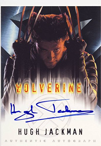 X-Men: The Movie Trading Card Autographed by Hugh Jackman as Wolverine