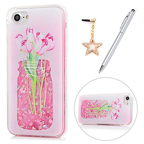 iphone 7  Case, KASOS Colorful Painting Pink Bottle Flower B