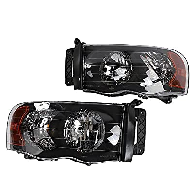 2PC Driver & Passenger Headlights Headlamps Set Replacement fit for Dodge 2002 2003 2004 2005 Ram 1500 & 2003-2005 Ram 2500 3500: Automotive