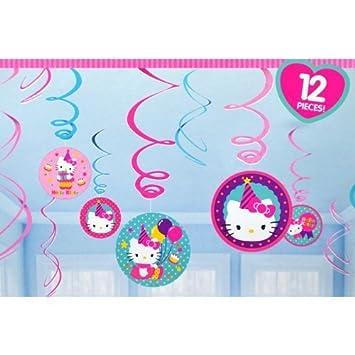 Hello Kitty Birthday Hanging Swirl Decorations 12pc Amazon In