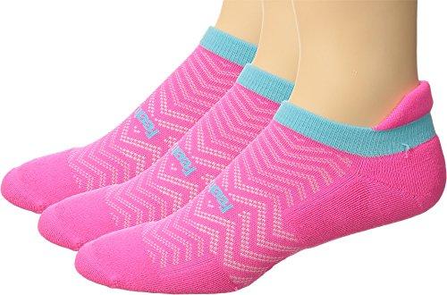 Feetures Unisex High Performance Cushion No Show Tab 3-Pair Pack Pink Pop SM (Womens Shoe 4-6.5)