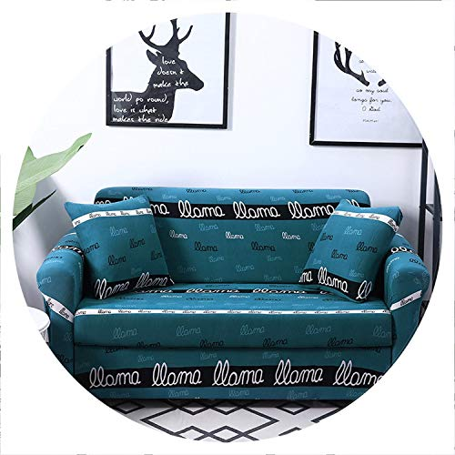 two Floral Pattern Sofa Cover Elastic Stretch Universal Sofa Slipcover Sectional Throw Couch Corner Cover for Furniture Armchairs,Color 18,2-Seater 145-185cm