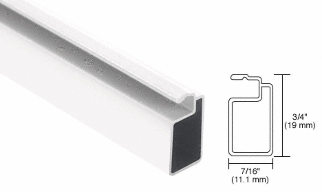 CRL White 3/4' x 7/16' Extruded Screen Frame