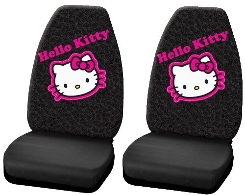 Hello Kitty Collage Hot Pink Sanrio Car Truck SUV Universal-fit Bucket Seat Covers - PAIR by LA Auto Gear